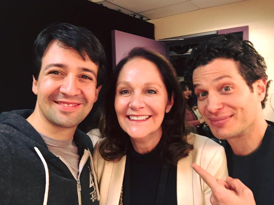 Peisha with Lin-Manuel Miranda and Thomas Kail (Director of Hamilton)