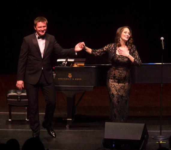 Peisha and Sergiu Tuhutiu performing Chopin Meets Broadway at The Irvine Barclay Theatre.